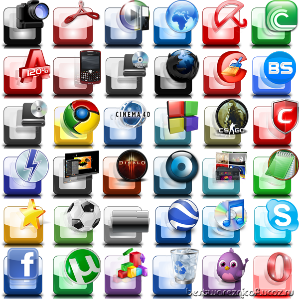 Reflective, icon pack,ico,png,иконки,icons