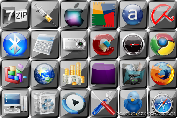 icon set,ico,png,иконки,icons,Square Glass
