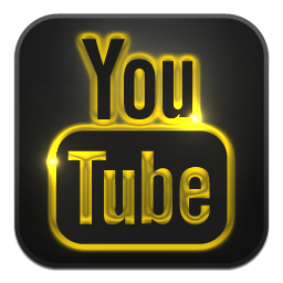youtube,иконка,icon,ico,png,free,3d,black,gold,social
